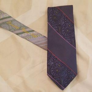 Robert graham mens silk tie - blue and purple